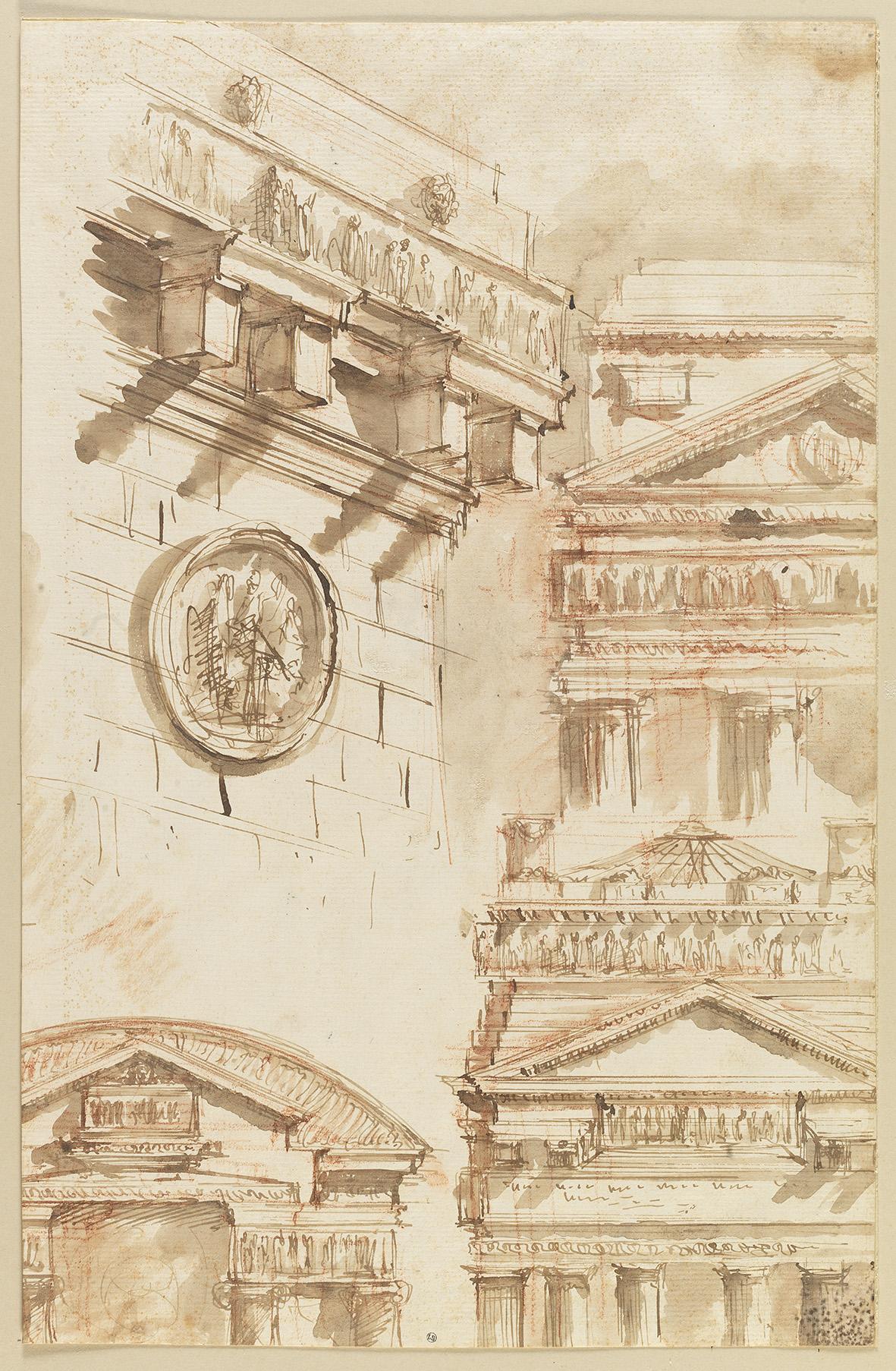 Piranese, études de motifs d'architecture