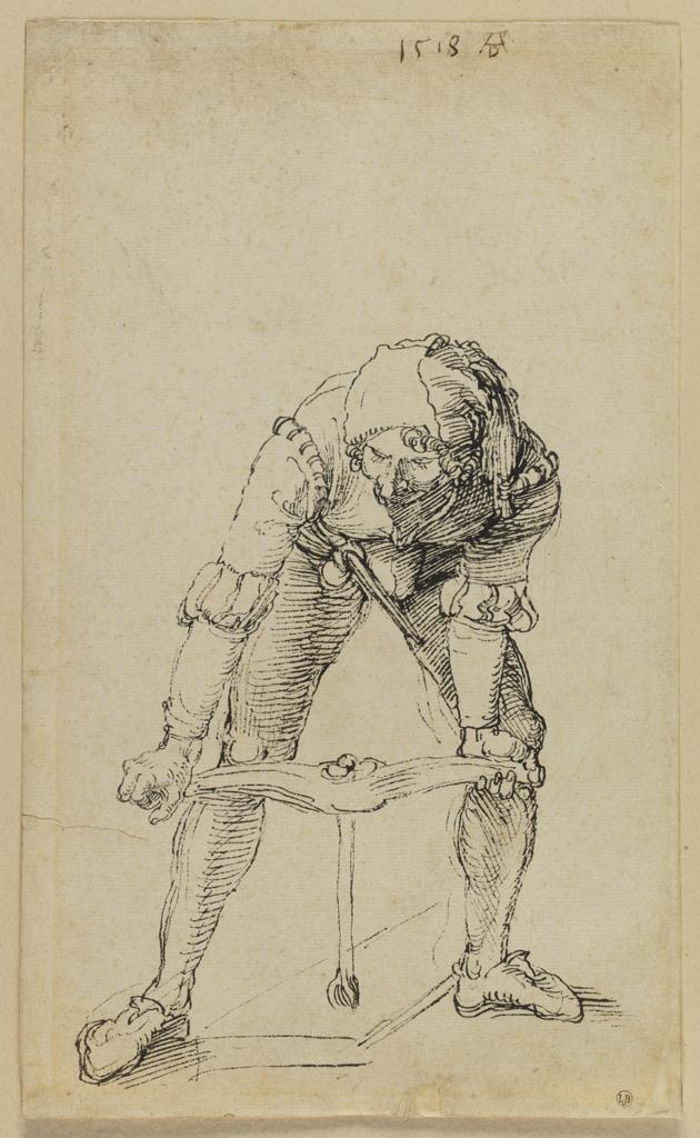 Dürer, Bourreau taraudant la croix,