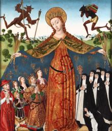 Diego de la Cruz. La Vierge de la miséricorde avec les rois catholiques et leur famille