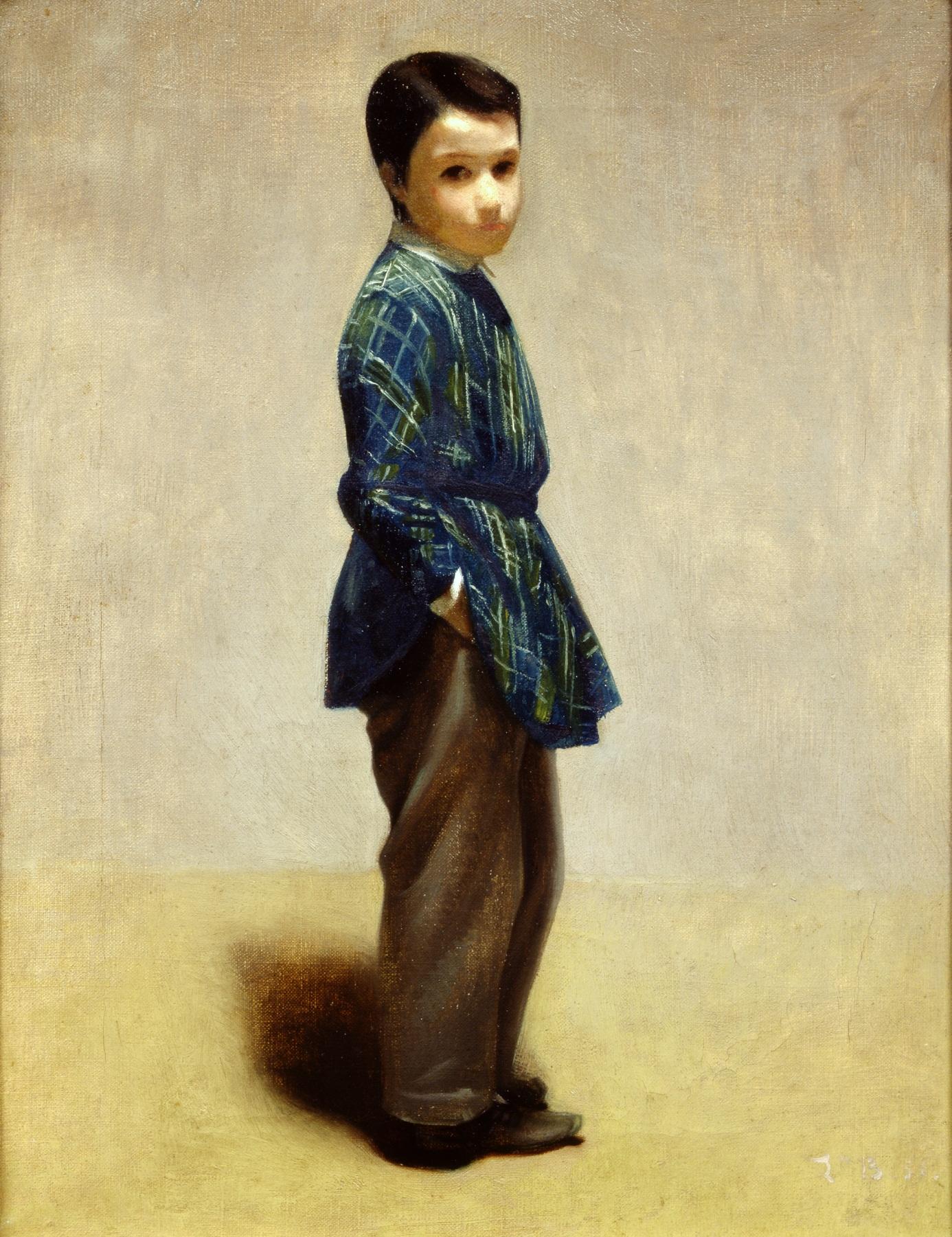 Léon Bonnat Portrait de Paul Bonnat, 9 ans, jeune frère de l'artiste
