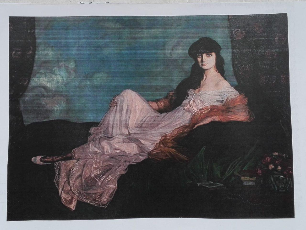 Ignacio Zuloaga Portrait de la comtesse Mathieu de Noailles 1913