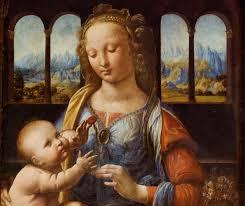 Leonard de Vinci Madone à l'oeillet, vers 1473
