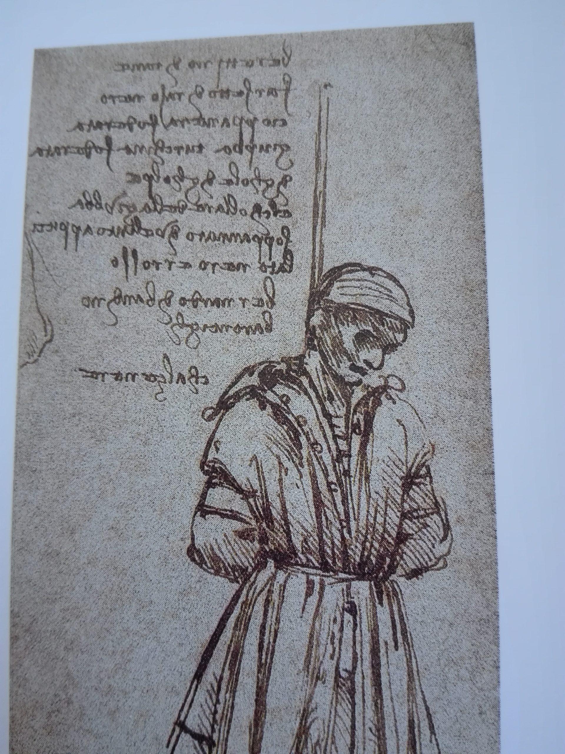 Léonard de Vinci Bernardo Baroncelli pendu, détail 1479